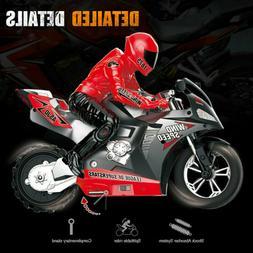 1:6 RC Motorcycle Stunt Car Vehicle Kids Toys Models Built-i