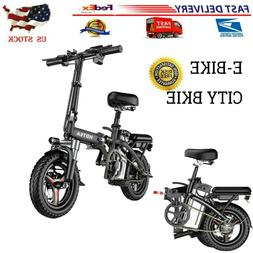 14'' Electric Bike Folding Commuter Bicycle City Ebike 48V