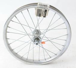 """16"""" Kids Youth Boys Girls Steel Front Bike Wheel Nutted Axle"""