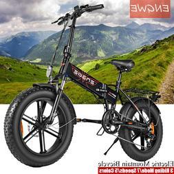"20"" 500W Folding Electric Bike Mountain Beach Adults Bicycle"