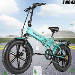 20'' 500W Folding Electric Bike Mountain Beach Bicycle E-bik