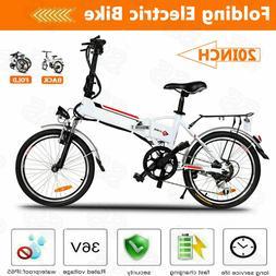 20'' Electric Bike E-Bike Foldable City Mountain Bicycle Adu