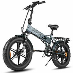 20'' Fat Tire 500W Folding Electric Bike Mountain Bicycle w/