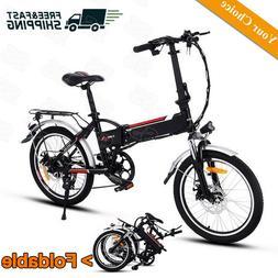 "20"" Folding Electric Bike Mountain Bicycle E-Bike 250W 8Ah L"
