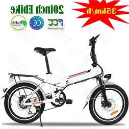Damping 20'' Electric Bike EBike Bicycle City Folding Bike S
