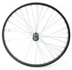 "24"" Kids / Youth Mountain Bike Aluminum Front Wheel QR Black"