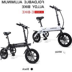 "Lixada 250W 14"" Folding Electric Bike Power Assist E-Bike Sc"