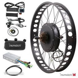 "26"" 1000W 48V Electric Bike Fat Tire Rear Wheel Bicycle Conv"