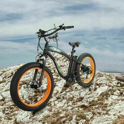 "26"" 1000W 48V Fat Tire Mountain Beach Electric Bike Bicycle"
