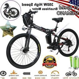 "26/21"" 36V 500/350W Folding Electric Bike City Mountain Cycl"