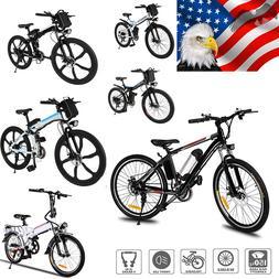 "26""250W Adult Electric Bicycle Bike Ebike Mountain Beach w/"