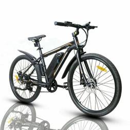 "26"" 350W Electric Bicycle Bike Beach Mountain Ebike w/Remova"