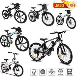 26'' Adult Electric Mountain Bike 21 Speed 36V 8A Lithium Ba