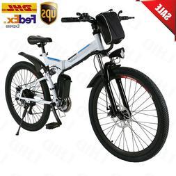 """26"""" Electric Bike E-Bike Folding Mountain Bicycle Cycling 21"""