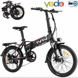 26'' Electric Bike Mountain Bicycle City Folding EBike 21 Sp