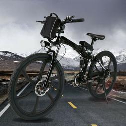 26'' Electric Bike Mountain Bicycle Ebike Shimano 21 Speed 3