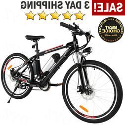 26'' Electric Bike Mountain Bicycle Shimano Damping Cycling