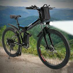 "26"" Electric Mountain Bike Adult E-bike Bicycle 25-35km/h Po"