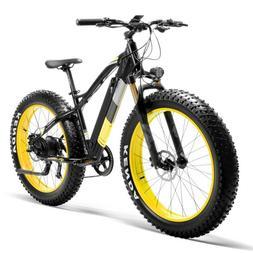 """26"""" Electric Mountain E-Bike Fat Tire Shimano 1000W 36V 16AH"""