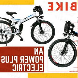 26'' Folding Bicycle Electric Bike City Mountain Ebike 36V L