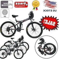 "CLIENSY 26"" Electric Folding Bicycle 350W City Mountain Bike"