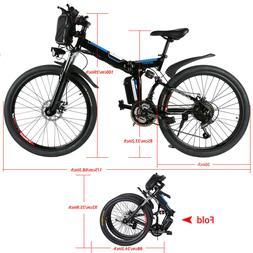 26INCH Folding Electric Bike City Mountain Cycling EBike 36V