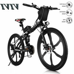 "VIVI 26"" Folding Electric Bike Mountain Bicycle City Ebike S"