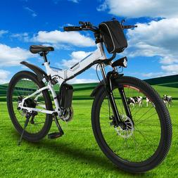 26'' Electric Bike Folding Mountain Bicycle Adult E-Bike Shi