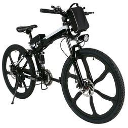 26inch Electric Bike Men's Moutain Bicycle Folding Cycling M