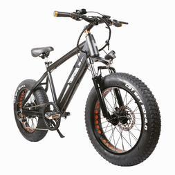 "NAKTO 300W Electric Bike 20"" Fat Tire Electric Bikes 6-Speed"