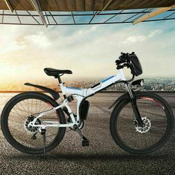 26INCH Electric Bike Mountain Bicycle City Folding E-Bike Sh