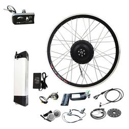Jueshuai 36V 500W 700c front wheel eBike kit with 10Ah lithi