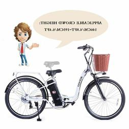 "SOHOO 36V350W10AH 26"" Electric Bicycle City EBike Mountion"