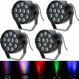 4X Lixada DMX512 RGBW 12LED PAR Stage Lighting Party Disco S