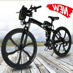 ANCHEER 26''  Electric Bike Folding Mountain Bicycle E-Bike