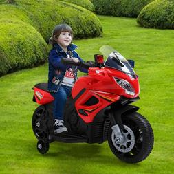 6V Kids Motorcycle Powered Electric Ride On Toy Car w/ 2 Tra