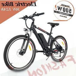 Adults Electric Mountain Bike 250/500W 26'' Bicycle Cycling