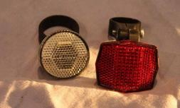 Cateye bicycle reflectors front and back set, NEW!