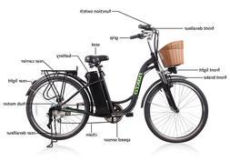 "26"" 250W Cargo-Electric Bicycle 6 speed e-Bike 36V Lithium B"