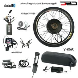 E Bike Conversion Kit 48V 1000W Electric Mountain Wheels Cha