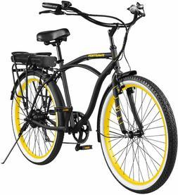 Swagtron EB-11 Electric Cruise Bicycle w/ Shimano 7-Speed &