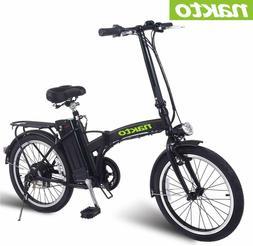 "NAKTO Electric Bicycle 20"" Folding Electric Bike 250W36V10AH"