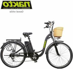 "NAKTO Electric Bicycle 26"" Cargo Electric Bike with 250W36V1"