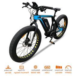 "Electric Bike 26"" Mid Drive Electric Bicycle 48V 13Ah 350W F"