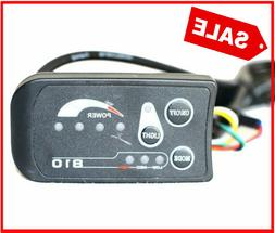 Electric Bike LCD Display Control Panel Power Light Switch I