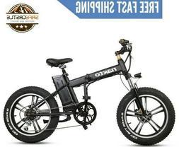 "NAKTO Electric Folding Bike for Adult 20"" 350W 36V 4"" Wheel"