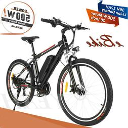 Electric Mountain Bike 500W 36V 12A Removable Battery Hybrid