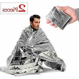 EZYoutdoor Emergency Thermal Blankets , Silver 82.6''x55'',