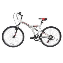 "26"" Folding Mountain Bike 7 Speed Bicycle Suspension Fork Sp"