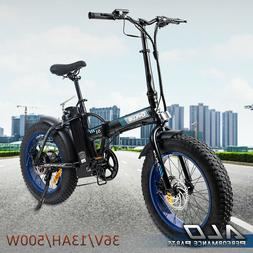 "Folding Electric Bicycle Beach City eBike 7 Speed 20""500W 36"